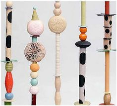 I really like Alison Gooding bead poles.