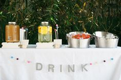 Beverage table from