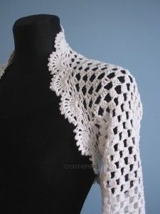 Craft it yourself - white crocheted shrug pattern review | buy, shop with friends, sale | Kaboodle
