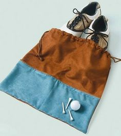 Golf Shoe Bag: Seasonal Projects: Spring & Summer: Shop | Joann.com- next gift for Dad!!