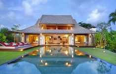 Space Villas, Seminyak. Set on a long, manicured gang (alleyway), Space's 11 chic villas comprise six two-bed and five new one-bed villas aimed at couples, yet they're still airy and large, with a good-size pool, cabana and open-air bathrooms.