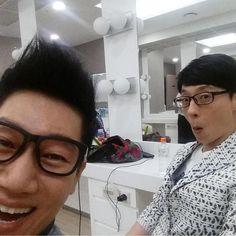 Ji Suk Jin instagram update w/ yoo jae suk. #runningman