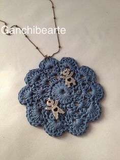 Ganchibearte: Bisuteria de Crochet: Colgante reversible
