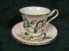 "Rare Paragon Fine Bone China Cup & Saucer - ""Painted Lady"" Trillium"