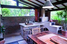 varandas com churrasqueira e fogão à lenha casa de campo praia - Pesquisa Google