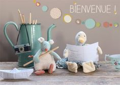 I adore how all of these French toys are styled in little scenes.