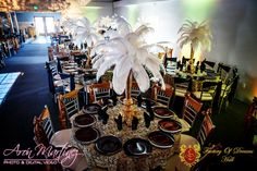 Feather centerpieces are the new flowers. Ostrich feathers are the most whimsical centerpiece for any event. Rent Party, Feather Centerpieces, Ostrich Feathers, Event Venues, Quinceanera, Best Part Of Me, Corporate Events, Special Events, San Diego