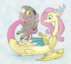 I'm not for fluttercord ship but they have cute children