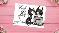 She said yes and its a yes Here we have a new version of it with this Fuck Yes card this card is a digital download and Printable - Batman and Cat woman, Greeting Cards , Oh Hell Yes, F Cards, funny gift, offensive, Wedding, funny birthday card, love card #Printable #etsy #Greetings #shesaidyes #itsayes #wedding #batman Homemade Cards For Men, Homemade Birthday Cards, Funny Birthday Cards, Birthday Greeting Cards, Greeting Cards Handmade, Love Cards, Diy Cards, Batman Drawing, Batman Art
