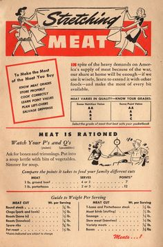 Stretching Meat: 1943 Betty Crocker Your Share - Wartime Meal Planning