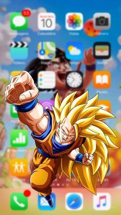 Goku Lock Screen di 2020 Wallpaper iphone Dragon ball z