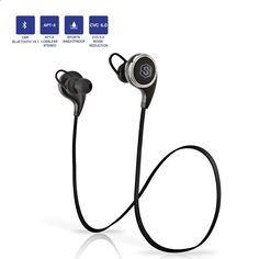 Amazon.com: Bluetooth Earbud Headphones, SmartOmni ® Smart i8 In-Ear V4.1 Bluetooth Sports Headphones with Mic, APT-X Stereo CVC 6.0 Noise-Cancelling Headset for Apple and Android Devices, Black: Cell Phones & Accessories