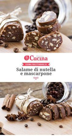 Salame di nutella e mascarpone mettere 50 gr in più di biscotti (provare anche a diminuire il mascarpone o nutella perché viene troppo morbido) buonissimo