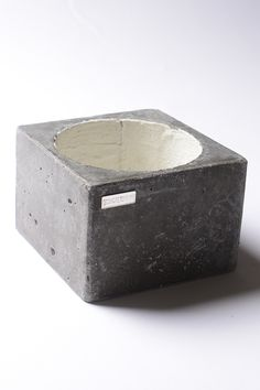 Carbon full concrete pot designed and handmade by Concrete Ink in Kuwait