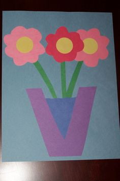 "V craft--""V is for Vase"" The Princess and the Tot: Letter Crafts - Uppercase & Lowercase"