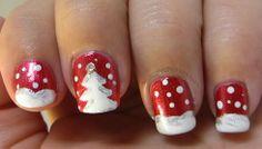 Christmas Winter mani #manicuredmonkey