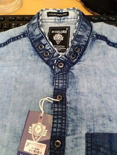 Denim Shirt Detailing wash effect denim shirt Denim Style, Shirt Style, Denim Shirt Men, Boys Shirts, Collar Shirts, Denim Fashion, Derby, Casual Shirts, Shirt Designs