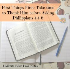 1-minute tip for more effective prayer: Start every request with thanksgiving or praise. It keeps your heart in perspective even when praying for a difficult problem.