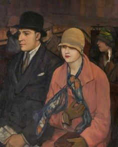 Mabel Frances Layng (English artist, 1881–1937), Top of the Bus, 1920s.
