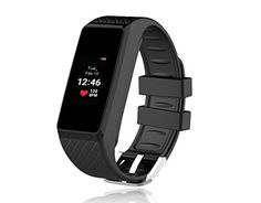 InChor Heart Rate Monitor Smart Bracelet IP67 Waterproof Colorful OLED Touchscreen Display Fitness Tracker Bluetooth 40 Black ** Learn more by visiting the image link.