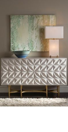 White sideboard for contemporary bedroom design | Modern Cabinets |  Contemporary Cabinets | Modern Buffet | For more inspirational ideas take a look at: www.bocadolobo.com