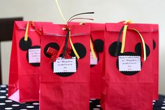 Mickey Mouse Party Favor Bags | Mickey and Minnie Mouse Favor BagsSet of 20 by inspiredbyjagger
