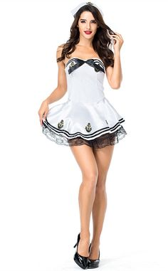 Standard Size Fits Most Women With a 88cm Bust And 72cm Waist ,Stature 150-170cm Material: Polyester,Cotton Wash It By Hand In 30-Degree Water, Hang To Dry In Shade, Prohibit Bleaching This Costume Includes :Dress,Cap