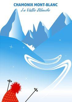 Ski Vintage, Chamonix Mont Blanc, Mountain Photography, Snow Skiing, Ski And Snowboard, Alps, Travel Posters, Sports Posters, Pop Art