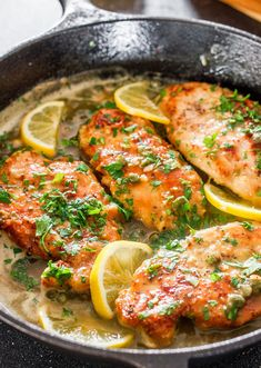Lemon Chicken Piccata | 23 Easy Dinners That'll Make You Look Like You've Got Your Shit Together Tapas, Garlic Butter Steak, Pasta Recipes, Salad Recipes, Chicken Recipes, Chicken Meals, Cooking Recipes, Yummy Recipes, Steak Bites