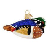 Wood Duck Glass Ornament