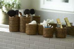 round baskets in rattan