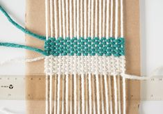 Woven Coaster Craft - Work In Progress Weaving Projects, Weaving Art, Loom Weaving, Coaster Crafts, Diy Coasters, Yarn Crafts, Fabric Crafts, Boho Diy, Weaving Techniques
