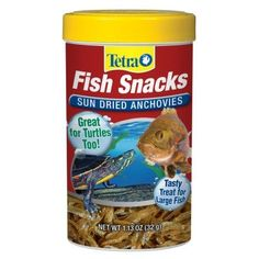 AQUATICS - FISH FOOD/FEEDERS - FISH SNACKS SUN DRIED ANCHOVY - 1.13 OZ - UPG-TETRA (DALEVILLE) - UPC: 46798770268 - DEPT: AQUATIC PRODUCTS