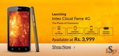 Intex Cloud Fame With 4G, Android Marshmallow Launched at Rs. 3,999 @ http://www.ispyprice.com/mobiles/6373-intex-cloud-fame-4g-price-list-india/
