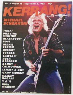 Michael Schenker on the cover of Kerrang! 1982