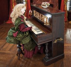 "French Musical Mechanical Automaton ""Lady at Piano"" by Vichy As Luxury Candy Box"