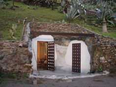 The entrance to cave home