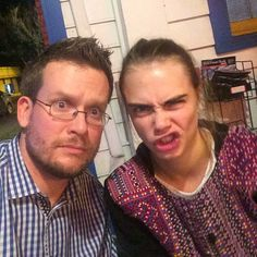 @johngreenwritesbooks : Eating pizza with @caradelevingne, aka Margo Roth Spiegelman in Paper Towns.