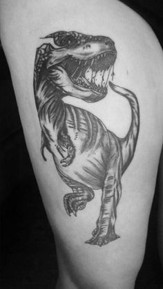 T Rex Tattoo Black And White Tattoos Google Search Searching N Irezumi
