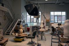 Tom Otterness' studio
