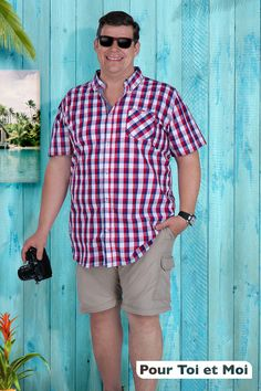 Le look de l'été. Chemise homme grande taille disponible de XL à 6 XL. Classe et décontracte Father, Button Down Shirt, Men Casual, Collection, Mens Tops, Shirts, Fashion, Budget, Plus Sized Clothing