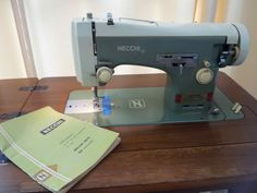 Necchi Lelia 514 - made in Italy. Lovely lovely machine! Came with a complete set of cams and a nice cabinet.