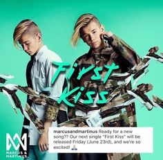 "I am listening to ""First Kiss - Marcus & Martinus"". Let us enjoy music on JOOX! Music App, Good Music, Instagram 2017, I Go Crazy, Wattpad, First Kiss, Bambam, Little Sisters, News Songs"
