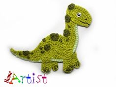 Crochet design Patterns and Appliques de HomeArtist en Etsy Granny Square Häkelanleitung, Granny Square Crochet Pattern, Crochet Motif, Crochet Designs, Crochet Flowers, Crochet Dinosaur Patterns, Applique Patterns, Doll Patterns, Crochet Patterns