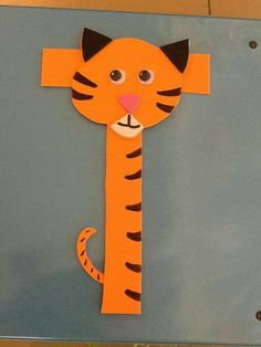 This page is a lot of letter t crafts for kids. There are letter t craft ideas and projects for kids. If you want teach the alphabet easy and fun to kids,you can use these activities. Letter T Activities, Preschool Letter Crafts, Alphabet Letter Crafts, Abc Crafts, Classroom Crafts, Preschool Crafts, Tiger Crafts, Animal Crafts, Animal Alphabet
