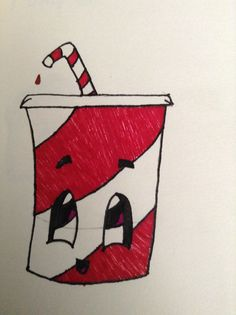 A cute soda drawing easy for anyone to use