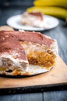 Czekoladowe banoffee – szybkie ciasto z bananami bez pieczenia