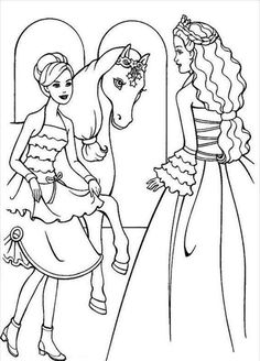 Ausmalbilder Barbie Pegasus Ausmalbilder Pferde Barbie Coloring