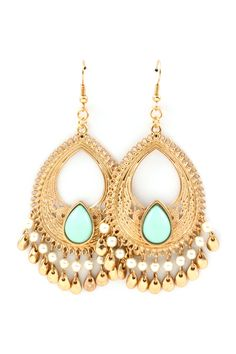 Minty Boho Chandelier Earrings on Emma Stine Limited...refer a friend and get $10 off