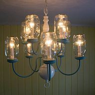 My DIY hubby did a great job of taking a throw away 10-light brass cha… :: Hometalk